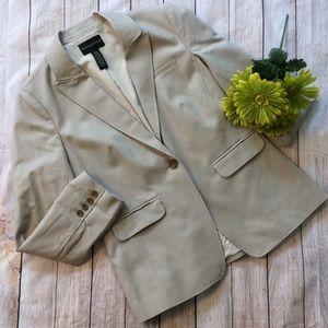 Tan Banana Republic 12 Large Lg L Blazer Suit Top